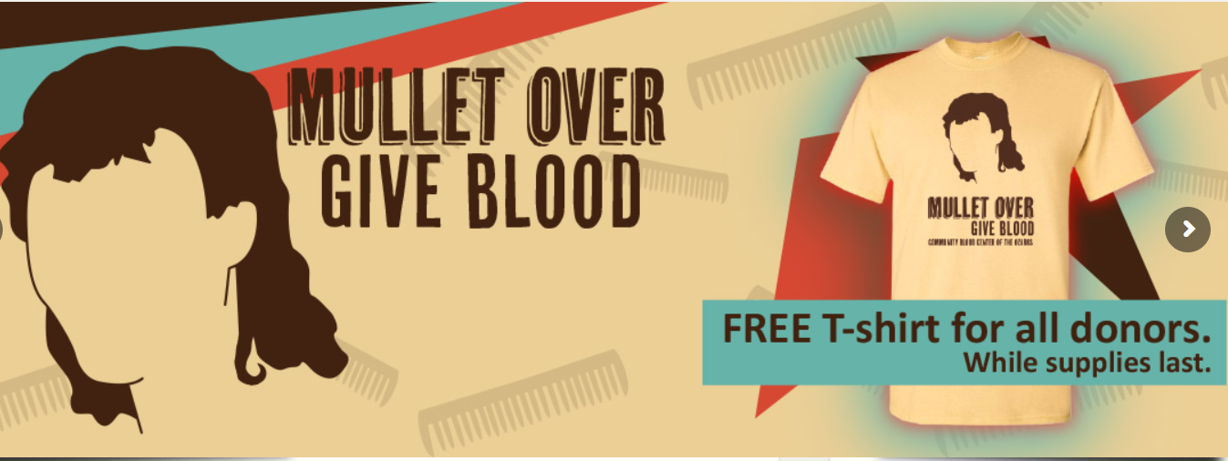 Mullet Over…Give Blood