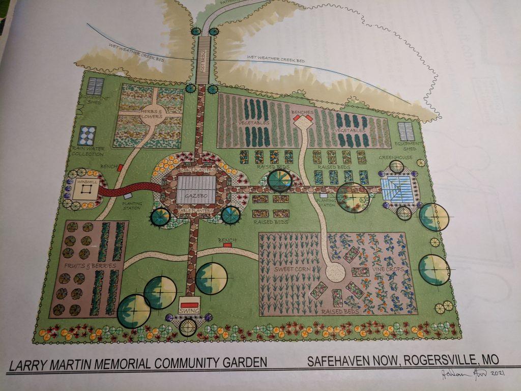 Larry martin memorial garden plan